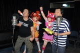 FUJIWARAのアフレコ初挑戦をキュアハッピーとキュアサニーが応援(C)ABC