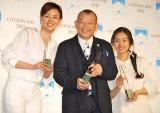 発表会に出席した(左から)SHIHO、笑福亭鶴瓶、忽那汐里 (C)ORICON DD inc.