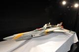記者会見場に展示された万能戦艦マイティジャック号 『マイティジャック』(1968年)撮影用オリジナルプロップから制作したレプリカ (C)円谷プロ