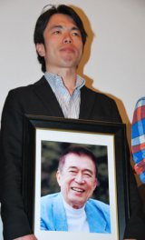 入川保則さんの遺作映画の舞台あいさつに登壇した長男・鈴木正則さん (C)ORICON DD inc.