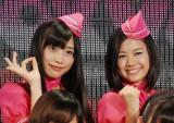 ぱすぽ☆(左から)根岸愛、森詩織
