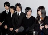 長良じゅん会長の本葬に参列した(左から)はやぶさ、森川つくし、岩佐美咲 (C)ORICON DD inc.