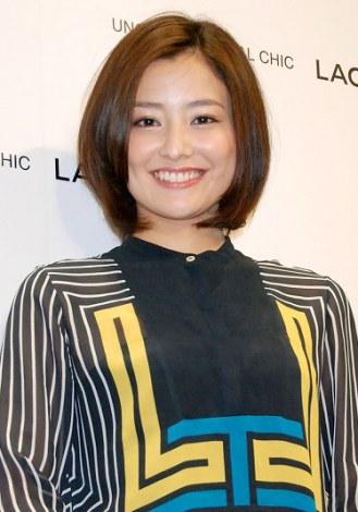 ラコステ渋谷のオープンレセプションに出席し、向井理との熱愛を否定した原田夏希 (C)ORICON DD inc.