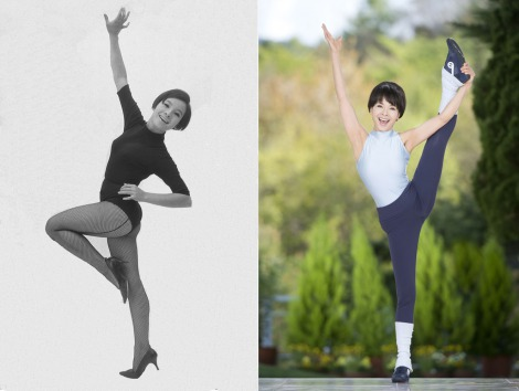 16歳当時(左)と変わらぬプロポーションを誇る現在の由美かおる