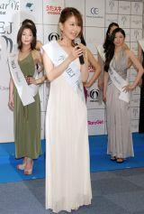 『2012ミス・アース』の日本代表ファイナリストに選ばれた杉元聖子さん (C)ORICON DD inc.