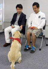 『ポチたまペットの旅』の3代目旅犬を務めるまさはる君、松本君の言うこともちゃんと聞きます (C)ORICON DD inc.