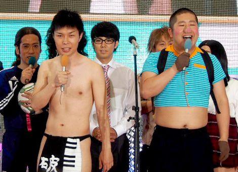 フジテレビの毎年恒例の夏イベント『お台場合衆国2012』の制作発表会に出席したハライチ (C)ORICON DD inc.