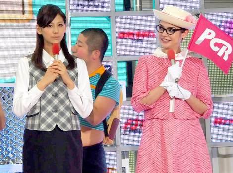 フジテレビの毎年恒例の夏イベント『お台場合衆国2012』の制作発表会に出席した(左から)西内まりや、加賀美セイラ (C)ORICON DD inc.