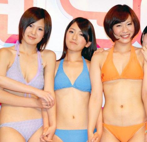 お披露目されたYGAの新メンバー・9期生の(左から)原彩乃、星野恵、村田玲奈 (C)ORICON DD inc.