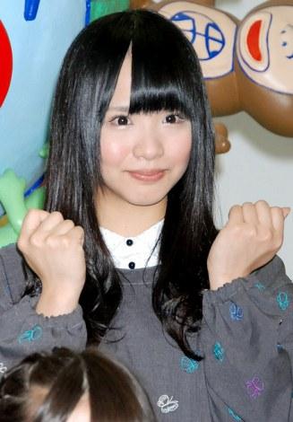 『AKB48美術部展覧会〜額だけ立派ですいません!〜』プレス内覧会に出席したSKE48研究生の松村香織 (C)ORICON DD inc.