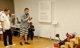 吉本興業と心拓塾の「世界最先端ロボット技術」イベントに参加したFUJIWARA (C)ORICON DD inc.
