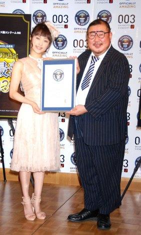 オカモト『003(ゼロゼロスリー)』ギネス認定イベントに出席したみひろ  (C)ORICON DD inc.