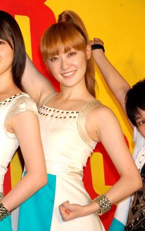 シングル「ガラゲッチャ〜GOTTA GETCHA〜」発売記念イベントを行った5人組女性ユニットbump.yの松山メアリ (C)ORICON DD inc.