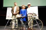 映画『監督失格』の(左から)プロデューサー・庵野秀明、音楽を担当した矢野顕子、平野勝之監督