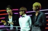 MTVの音楽授賞式『MTV VIDEO MUSIC AWARDS JAPAN(VMAJ)2012』にて「365 日のラブストーリー。」で最優秀カラオケソング賞を受賞したソナーポケット 写真提供: MTV Networks Japan