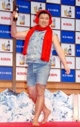 『キリン アイスプラスビール』の新商品発表会に冬使用で登場したスギちゃん (C)ORICON DD inc.