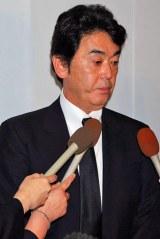 小野ヤスシさんの通夜に参列したおりも政夫 (C)ORICON DD inc.