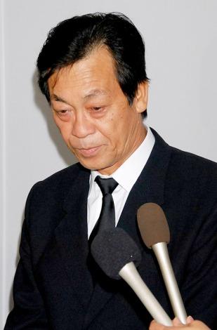 小野ヤスシさんの告別式に参列した清水アキラ (C)ORICON DD inc.