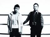清木場俊介(右)の新曲「Fighting Man」がプロボクシング長谷川穂積選手の入場曲に
