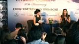 シンガポールでの記者会見の模様