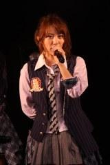東京ドーム公演のタイトルを発表したチームAキャプテンの高橋みなみ(C)AKS