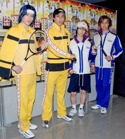 ミュージカル『テニスの王子様 青学VS立海』の公開リハーサルを行った(左から)神永圭佑、小笠原健、小越勇輝、和田琢磨 (C)ORICON DD inc.
