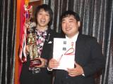 『第3回 お笑いハーベスト大賞』で優勝した三拍子 (C)ORICON DD inc.
