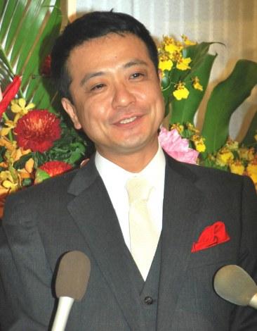仲本工事と三代純歌の結婚披露宴に出席した中山秀征 (C)ORICON DD inc.