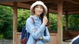 自ら企画した「東海道歩き旅」で鞠子宿から袋井宿まで8宿、約50キロを歩いた、杏(C)BSジャパン