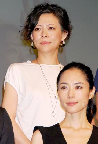 NODA・MAP第17回公演『エッグ』制作発表記者会見に出席した秋山菜津子 (C)ORICON DD inc.