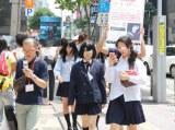 福岡・天神での街頭イベントの様子