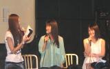 イベントでは、3人でトーク、ゲーム、プレゼントコーナーなどで盛り上がった。 (C)ORICON DD inc.