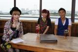 7月31日放送の『キャサリン』のゲストは仲里依紗(中央)と中尾明慶(右)、MCはきゃりーぱみゅぱみゅ(左)(C)関西テレビ