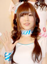 KYORAKUのイメージキャラクター『ゼブラエンジェル』リニューアル発表会に出席したあきすんブルー(出口陽) (C)ORICON DD inc.