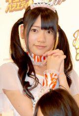 KYORAKUのイメージキャラクター『ゼブラエンジェル』リニューアル発表会に出席したこあみオレンジ(小林亜実) (C)ORICON DD inc.