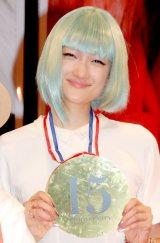 写真展『I,Tominaga 15th Anniversary』開催記念トークショーを行った冨永愛 (C)ORICON DD inc.