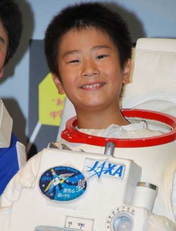有人宇宙開発ヒストリー展 in 丸の内』オープニングプレス発表会に出席したまえだまえだの弟、前田旺志郎 (C)ORICON DD inc.
