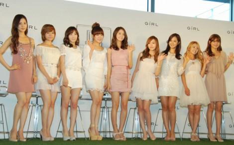 香水ブランド「GiRL DE PROVENCE」ローンチイベントに出席した少女時代のサニー (左から)ソヒョン、サニー、テヨン、ティファニー、ユナ、ジェシカ、ユリ、ヒョヨン、スヨン (C)ORICON DD inc.