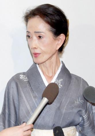 俳優・地井武男さんのお別れの会に参列したいしだあゆみ (C)ORICON DD inc.
