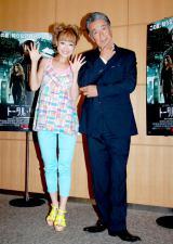 映画『トータル・リコール』のジャパンプレミアに出席した(左から)鈴木奈々、高田純次 (C)ORICON DD inc.