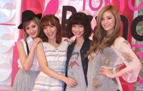サムネイル テレビ東京『TOKYO BRANDNEW GIRLS』記者会見に出席した(左から)木下ココ、優木まおみ、安田美沙子、Nana (C)ORICON DD inc.