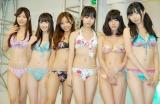 (写真左から)柴小聖、船岡咲、桜子、栗田恵美、今野杏南、白河優菜 (C)ORICON DD inc.