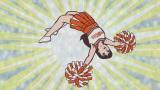 アクロバティックなチアを披露する星飛雄馬の姉・明子