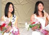 涙ながらに喜びを語ったグランプリを受賞した2人 (C)ORICON DD inc.