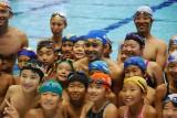 約200人の小学生に水泳の楽しさを伝えた北島康介選手(中央) (C)ORICON DD inc.