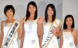 『第13回全日本国民的美少女コンテスト』に出場した(左から)尾崎真花さん、小澤奈々花さん、吉本実憂さん、井頭愛海さん (C)ORICON DD inc.