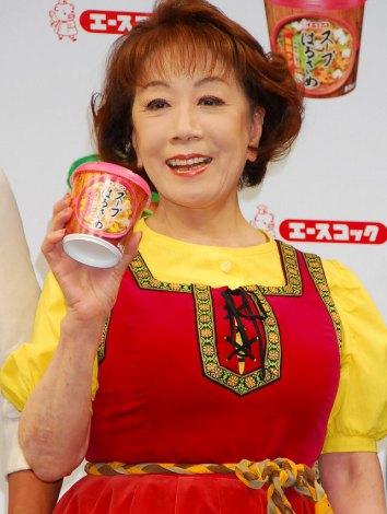 エースコック『スープはるさめ』新CM発表会に出席した朝丘雪路 (C)ORICON DD inc.