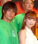 (左から)橋本大地選手、重盛さと美 (C)ORICON DD inc.