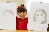 長澤まさみと武井咲の似顔絵を描いた渡邉このみ
