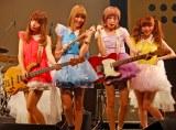 記念ライブを行った新生・Silent Sirenの(左から)あいにゃん(B)、ひなんちゅ(Dr)、すぅ(Vo)、ゆかるん(Key) (C)ORICON DD inc.